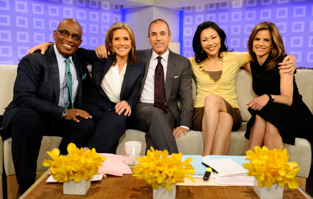 """Al Roker, Meredith Vieira, Matt Lauer, Ann Curry and Natalie Morales appear on NBC News' """"Today"""" show"""