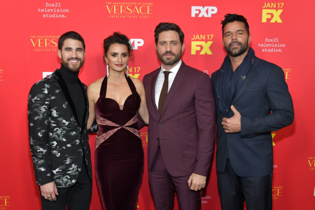 'American Crime Story' cast Darren Criss, Penélope Cruz, Edgar Ramirez, and Ricky Martin