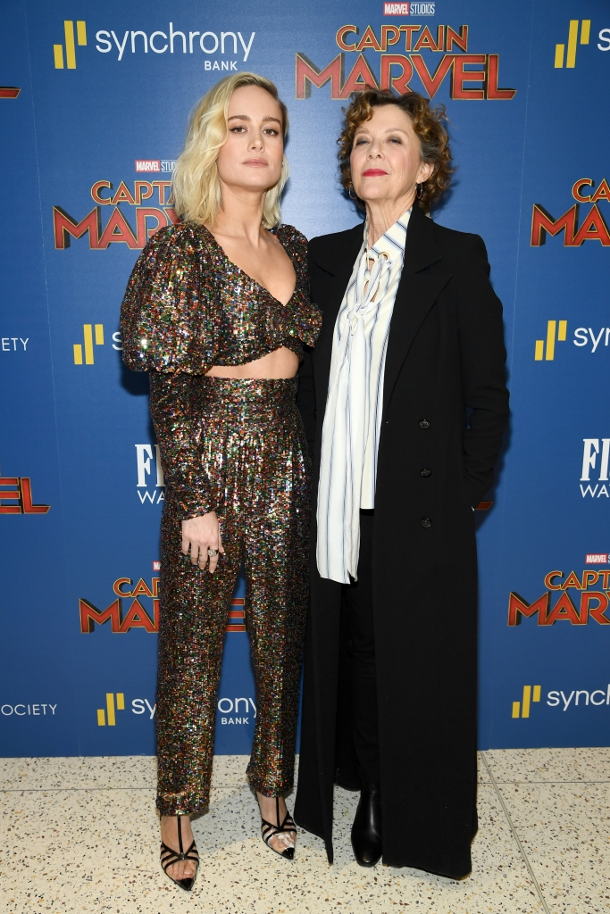 Brie Larson and Annette Bening at a screening of 'Captain Marvel'