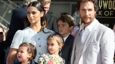 Matthew McConaughey and Camila Alves with their kids in 2014