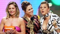Candace Cameron-Bure, Jodie Sweetin, and Andrea Barber at the 2019 Kids' Choice Awards