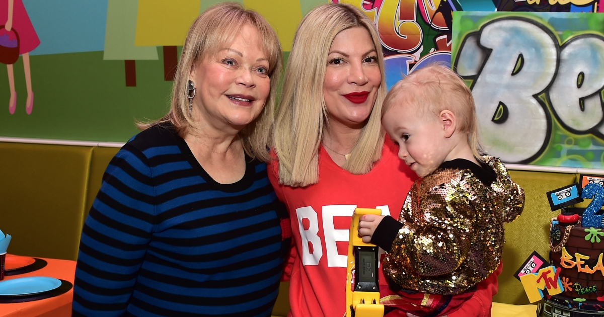 Spelling Of Honor: Candy Spelling Reunites With Tori For Grandson's 2nd Birthday