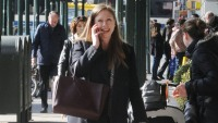 Expecting Mother Chelsea Clinton arrives home to her apartment in New York City.