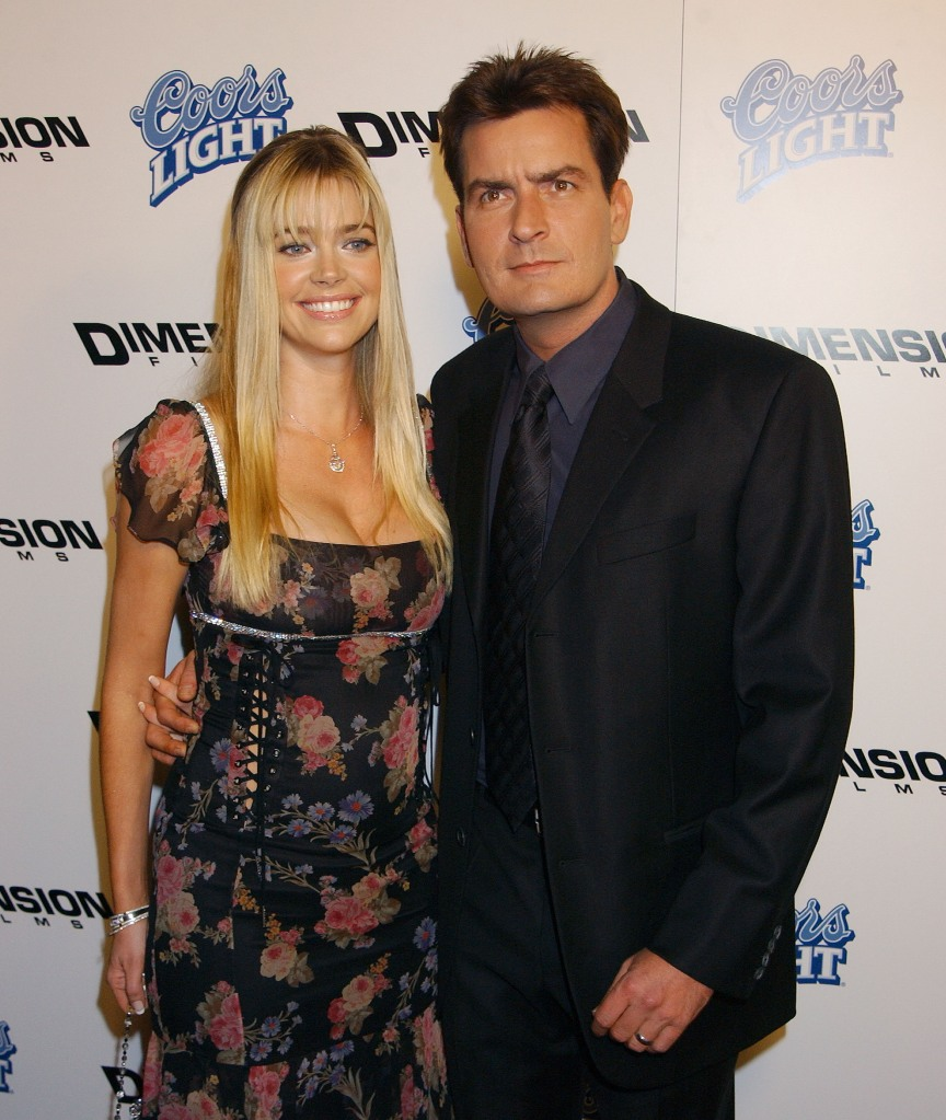 """Denise Richards and Charlie Sheen during """"Scary Movie 3"""" Premiere"""