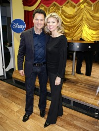 "ntertainer Donny Osmond and his wife Debbie Osmond attend ""Dance Star Mickey"" at the Mattel Inc. Showroom"