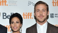 "Eva Mendes and Ryan Gosling attend ""The Place Beyond The Pines"" premiere during the 2012 Toronto International Film Festival at Princess of Wales Theatre"