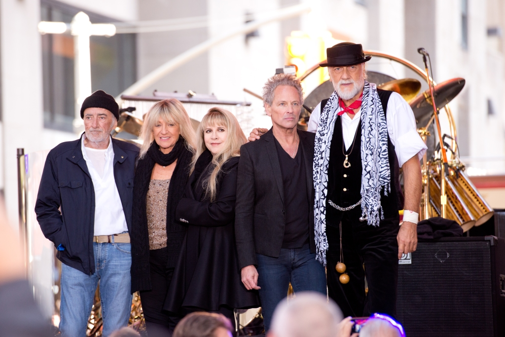 "(L-R) John McVie, Christine McVie, Stevie Nicks, Lindsey Buckingham and Mick Fleetwood of Fleetwood Mac perform on NBC's ""Today"" at the NBC's TODAY Show"