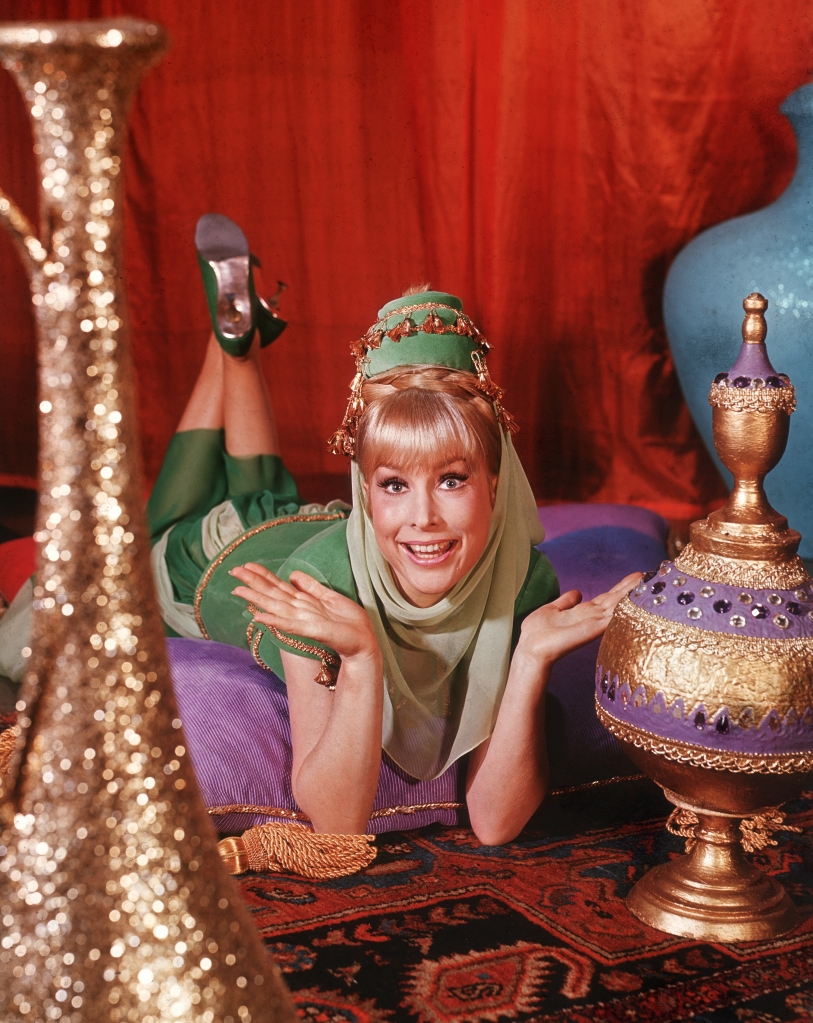 Barbara Eden in a promo image for 'I Dream of Jeannie'