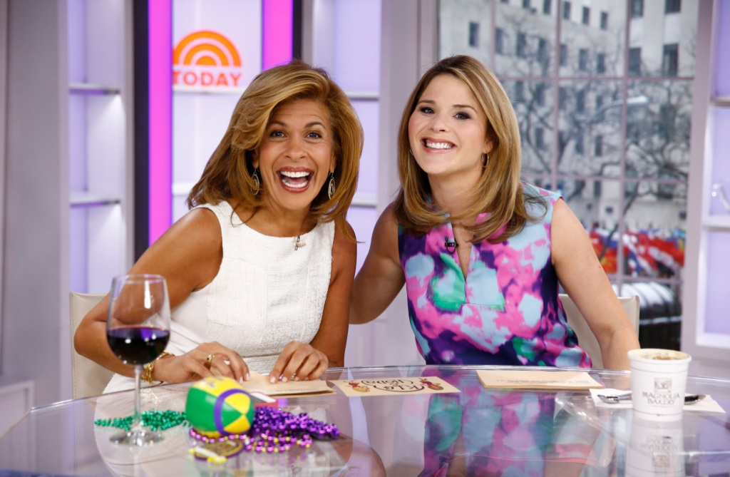 "Hoda Kotb and Jenna Bush Hager appear on NBC News' ""Today"" show"