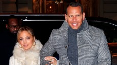 Jennifer Lopez flashes her big engagement ring when out for dinner with Alex Rodriguez