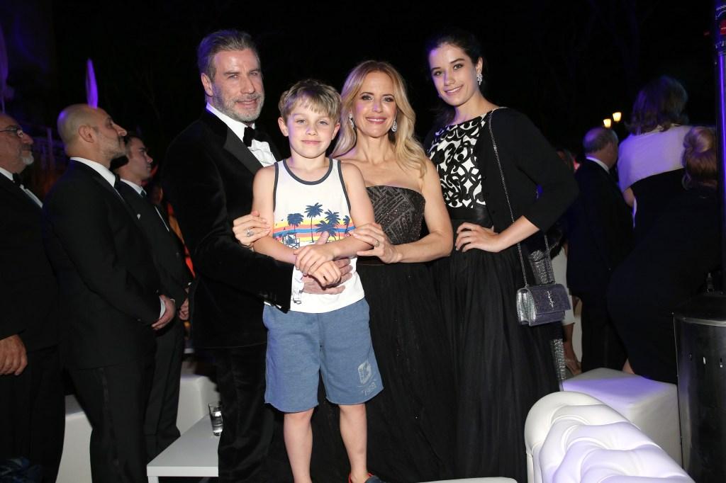 John Travolta and Kelly Preston's family in 2018
