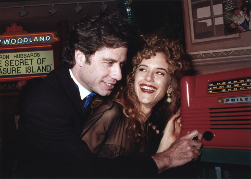 John Travolta and Kelly Preston in 1991