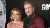 John Travolta and Kelly Preston at the 'Gotti' premiere
