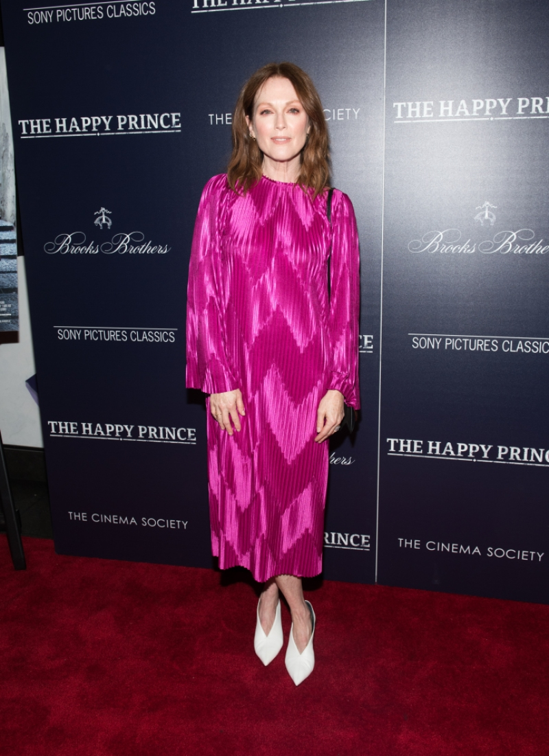 "Julianne Moore attends ""The Happy Prince"" New York screening at iPic Cinema"