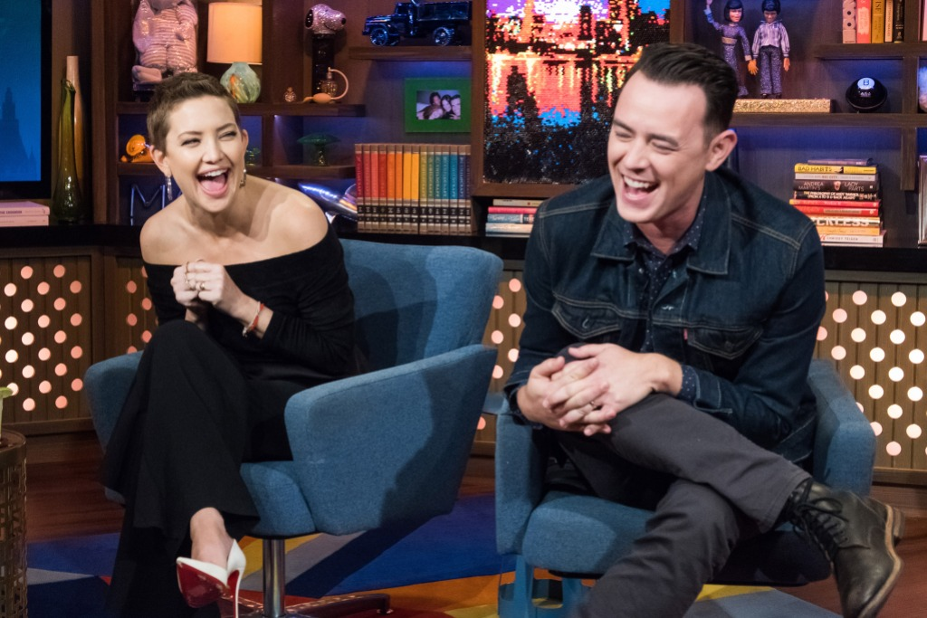 Kate Hudson and Colin Hanks appear on 'Watch What Happens Live With Andy Cohen'