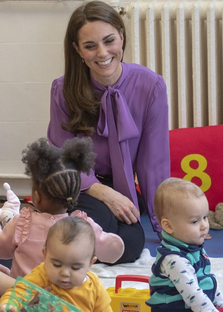 Catherine, Duchess of Cambridge visits the Henry Fawcett Children's Centre