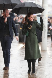 Prince William, Duke of Cambridge and Catherine, Duchess of Cambridge wave to onlookers on March 06, 2019 in Blackpool, England.