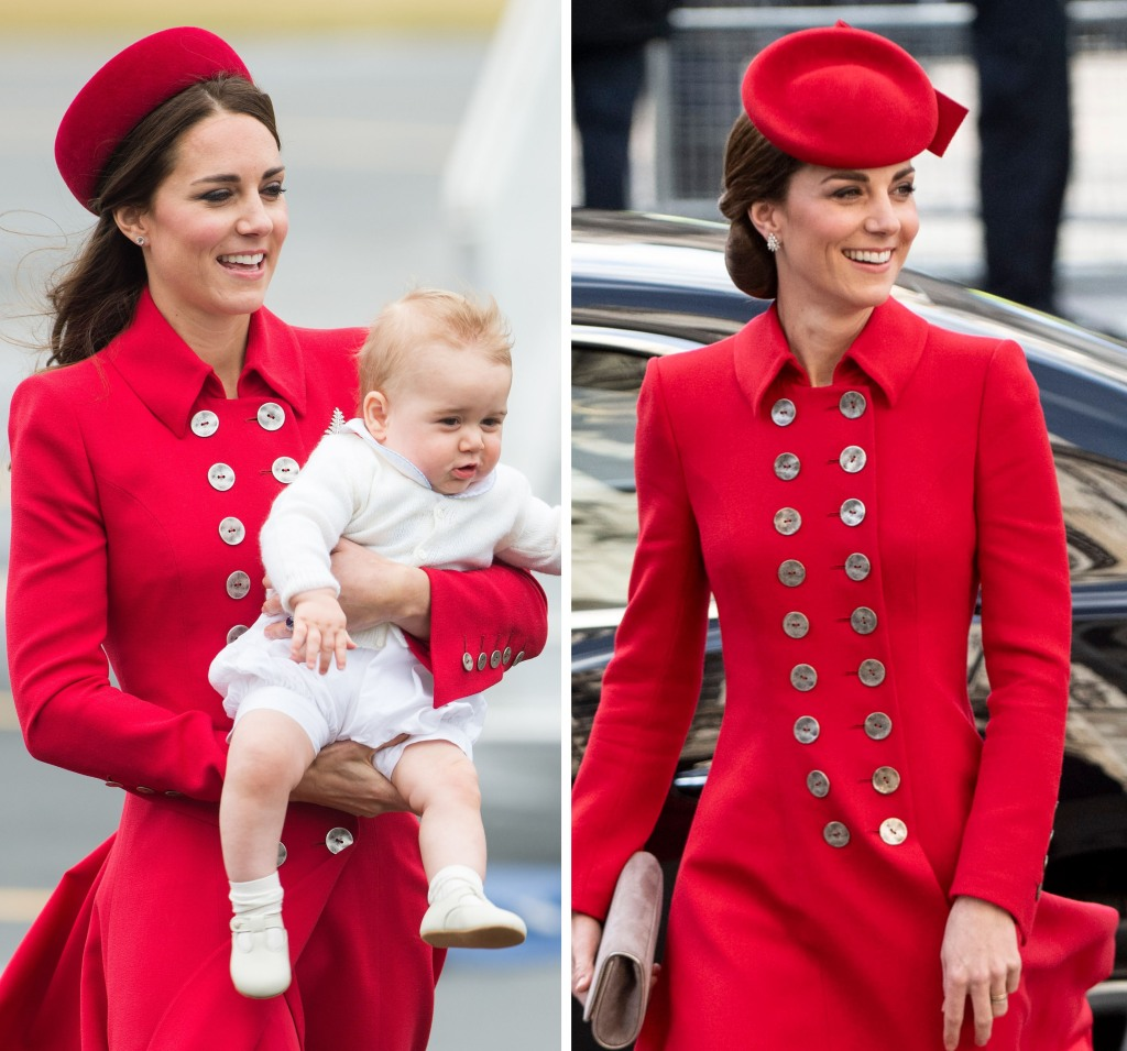 kate-middleton-red-coat-prince-george-rewear