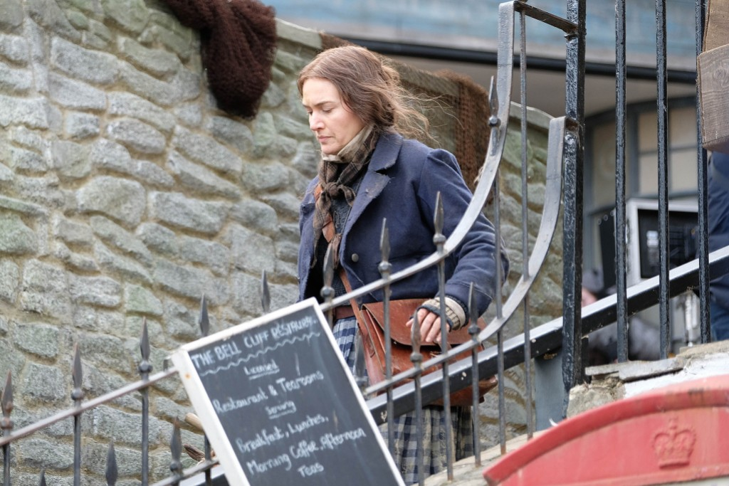 Kate Winslet Filming Ammonite