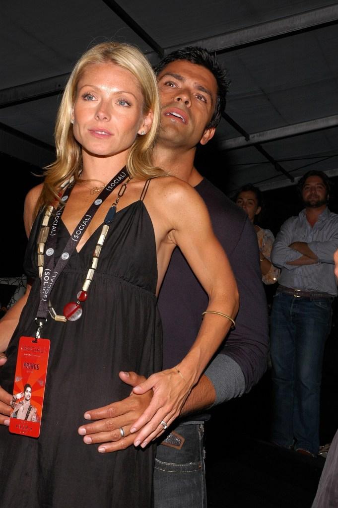 Kelly Ripa and Mark Consuelos attend the Hampton Social