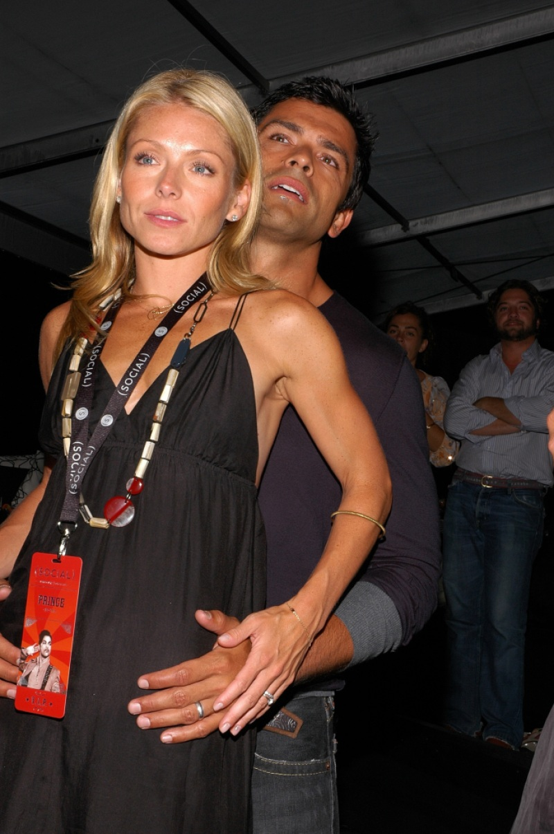 Kelly Ripa and Mark Consuelos attend the Hampton Social