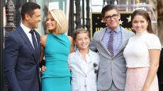 Kelly Ripa and Mark Consuelos with their children attend the ceremony honoring Kelly Ripa with a Star on The Hollywood Walk of Fame h