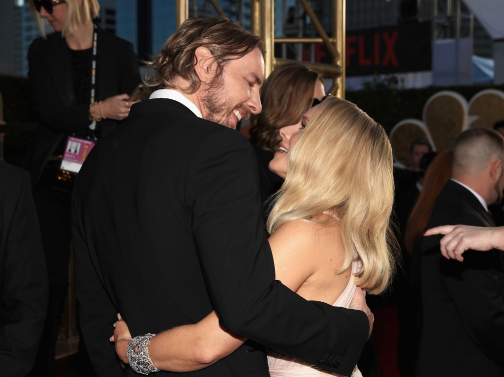76th ANNUAL GOLDEN GLOBE AWARDS -- Pictured: (l-r) Dax Shepard and Kristen Bell arrive to the 76th Annual Golden Globe Awards