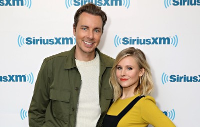 Actors Dax Shepard and Kristen Bell visit the SiriusXM Studios on March 22, 2017 in New York City