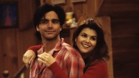 """Joey's Funny Valentine"" - Season Seven - 1/25/94, Jesse (John Stamos) and Rebecca (Lori Loughlin) went to see Joey's new girlfriend's performance at the Smash Club.,"