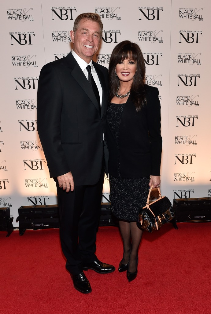 Entertainer Marie Osmond (R) and her husband, Steve Craig, attend Nevada Ballet Theatre's 32nd annual Black & White Ball honoring Olivia Newton-John