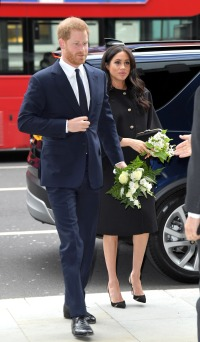 Prince Harry, Duke of Sussex and Meghan, Duchess of Sussex arrive at New Zealand House to sign the book of condolence after the recent terror attack which saw at least 50 people killed at a Mosque in Christchurch