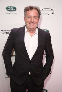 Piers Morgan arrives at the launch of the New Range Rover Velar