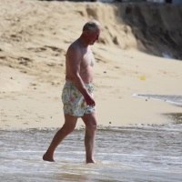 Prince Charles Wears Floral Bathing Suit While On