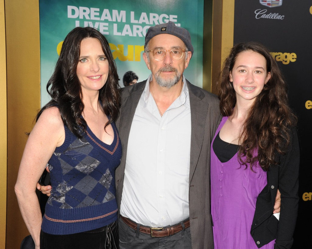 Actress Sheila Kelley, actor Richard Schiff and daughter Ruby Christine Schiff arrive at the 'Entourage' Los Angeles premiere