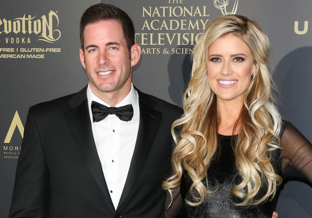 TV Personalities Tarek El Moussa (L) and Christina El Moussa (R) attend the press room for the 44th annual Daytime Emmy Awards