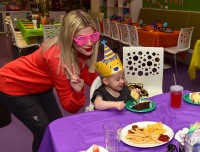 Tori Spelling and Dean McDermott celebrates their son Beau`s 2nd birthday with a Hip Hop birthday at Giggle N Hugs. The party featured Build-A-Bear and a 90`s hip hop cake by Cake Bash Studio.