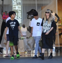 Heidi Klum is a cat lover shopping at the Grove