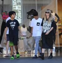 Heidi Klum is a cat lover shopping at the Grove