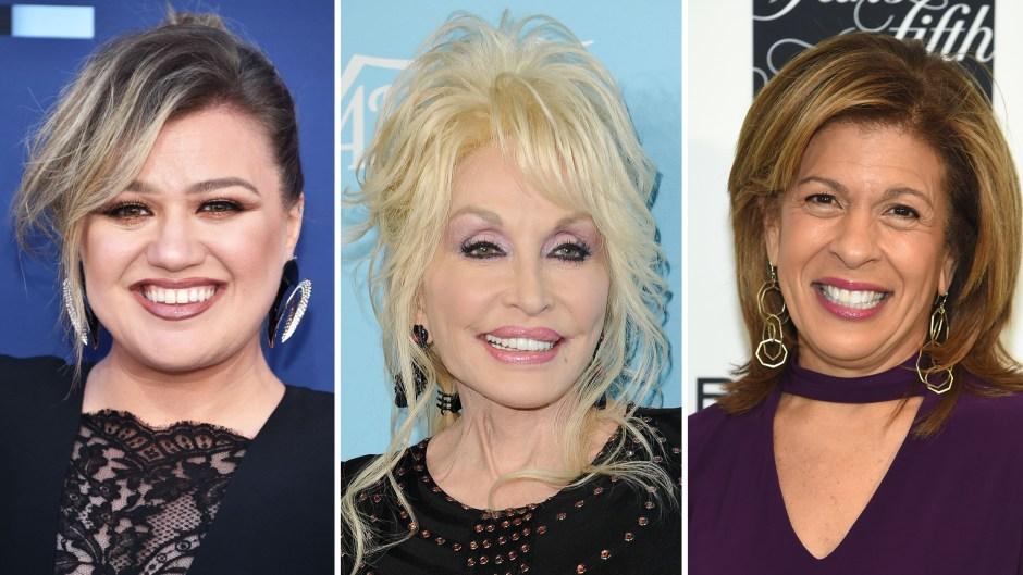Kelly Clarkson Dolly Parton Hoda Kotb