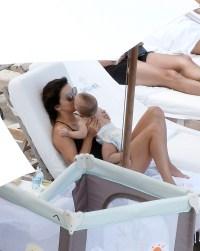 Eva Longoria and baby Santiago