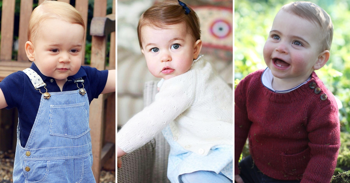 6d902ed26 How Does Prince Louis' First Birthday Portraits Compare to Prince George  and Princess Charlotte's?