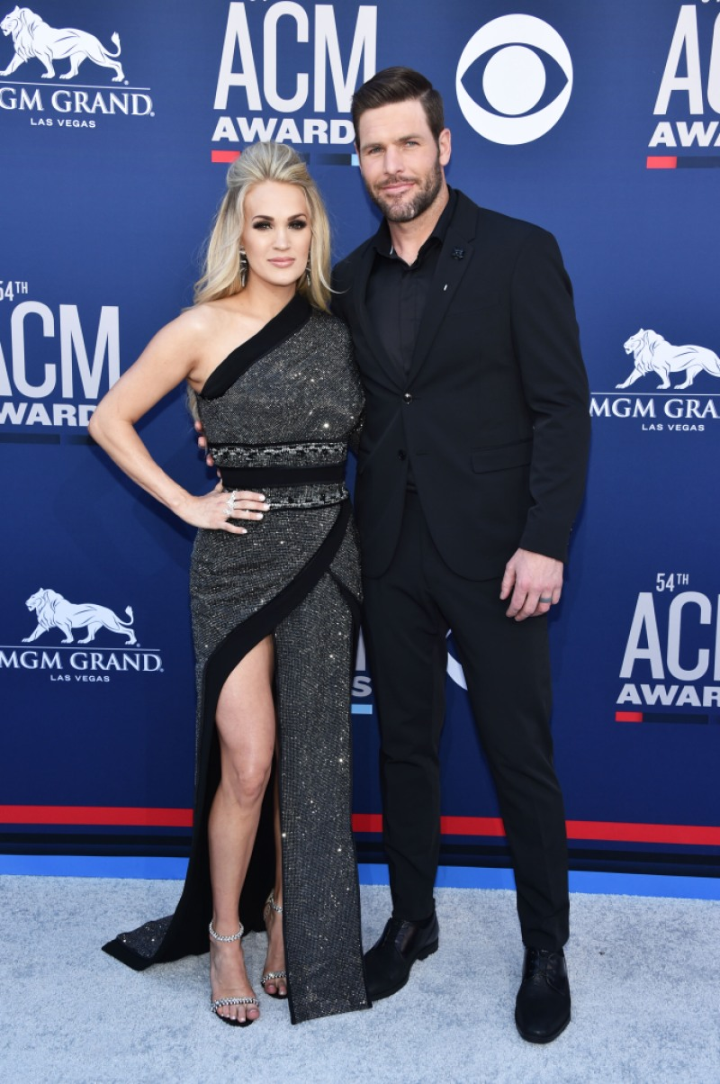 Carrie Underwood and Mike Fisher attend the 54th Academy Of Country Music Awards at MGM Grand Hotel & Casino