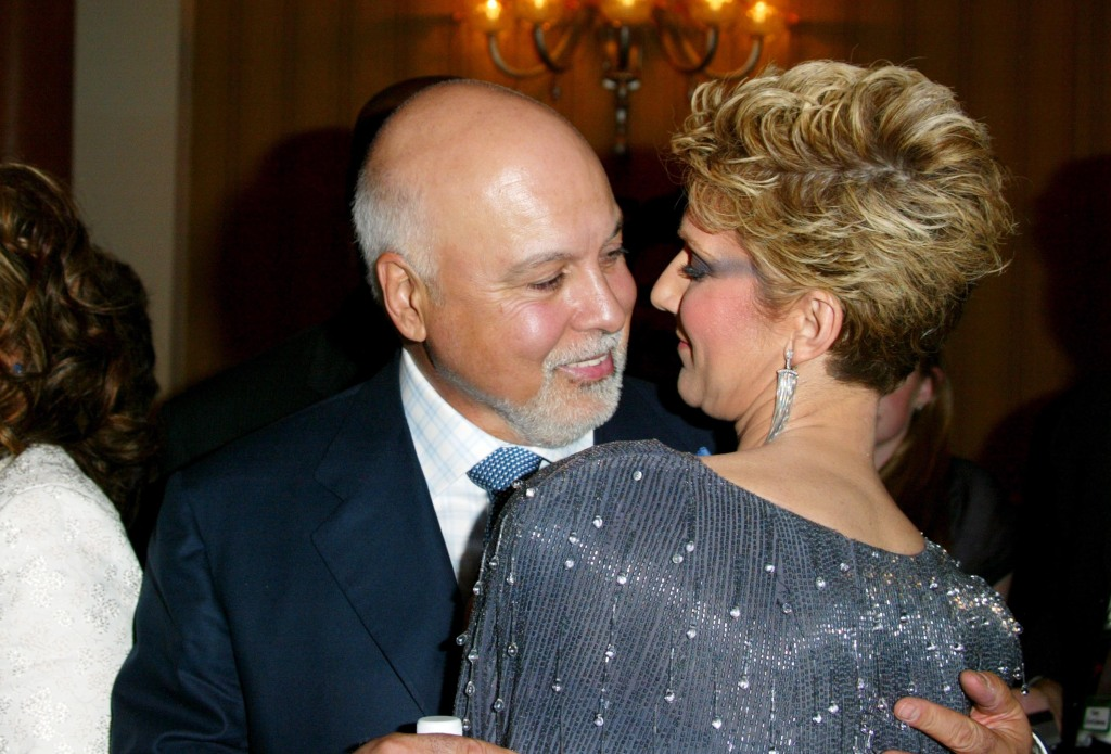 """Celine Dion & Rene Angelil during Celine Dion Opening Night Of """"A New Day"""" -"""