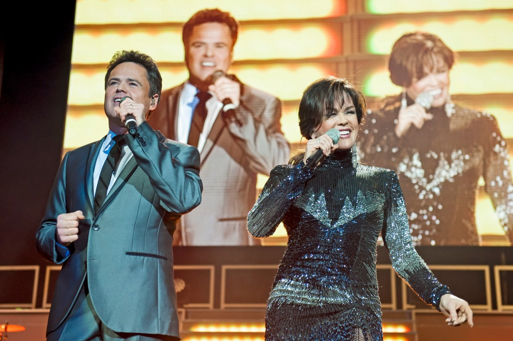 Donny Osmond and Marie Osmond perform on stage in concert at O2 Arena on January 20, 2013 in London, England