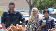 Gwen Stefani Is All Smiles as She Attends Easter Sunday Church Service With Blake Shelton and Her Kids — Look!