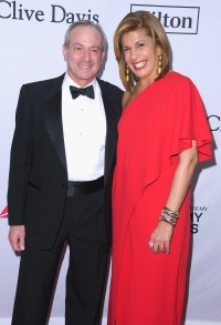 Financier Joel Schiffman (L) and journalist Hoda Kotb attend the Clive Davis and Recording Academy Pre-GRAMMY Gala and GRAMMY Salute to Industry Icons Honoring Jay-Z