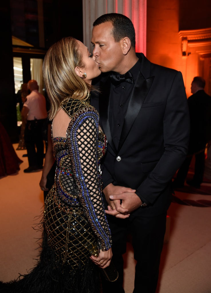 Jennifer Lopez and Alex Rodriguez attend the Heavenly Bodies: Fashion & The Catholic Imagination Costume Institute Gala at The Metropolitan Museum of Art