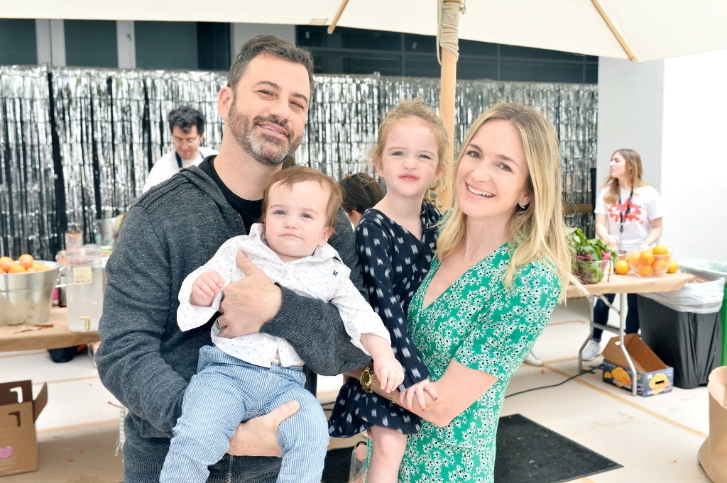 Jimmy Kimmel, Billy Kimmel, Jane Kimmel and Molly McNearney attend Hammer Museum