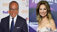 Lester Holt and Kathie Lee Gifford