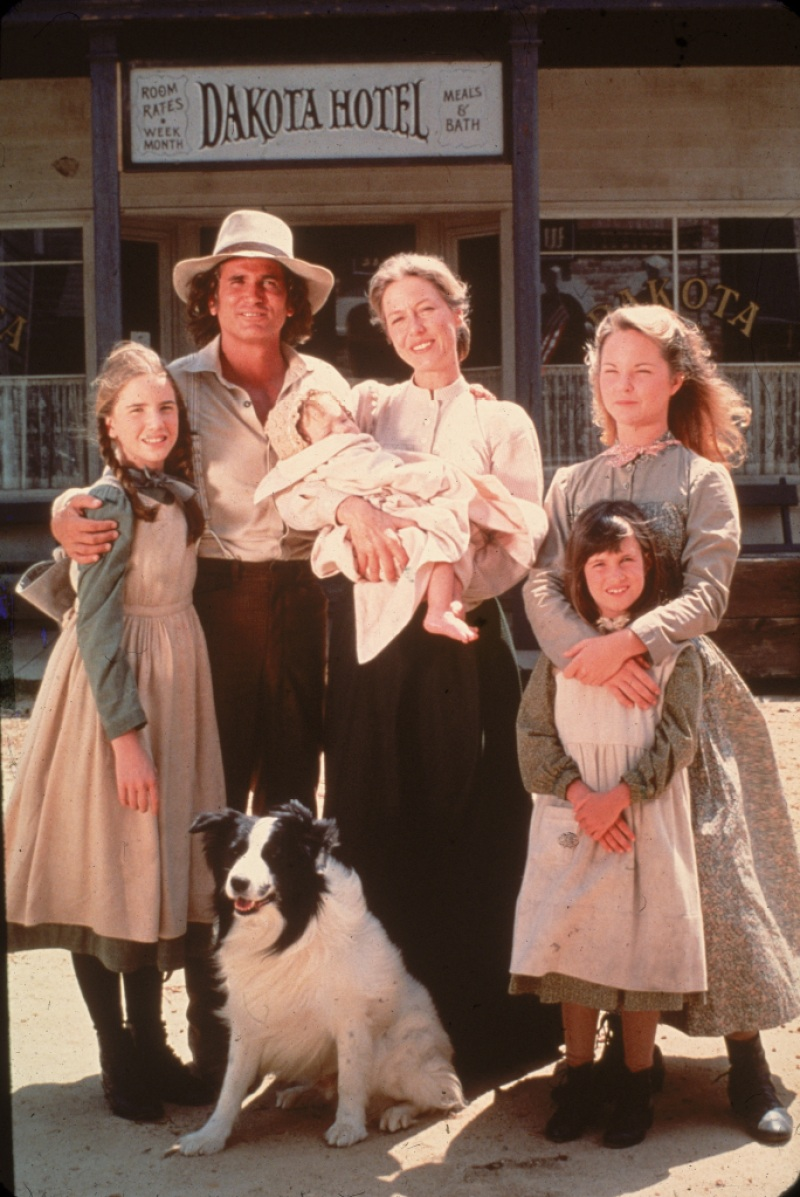 Cast Of 'Little House On The Prairie' On Set